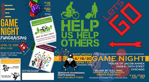 Game Night Fundraiser 4/18/20